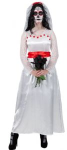 Mexican Bride of the Dead ladies Halloween fancy dress costume